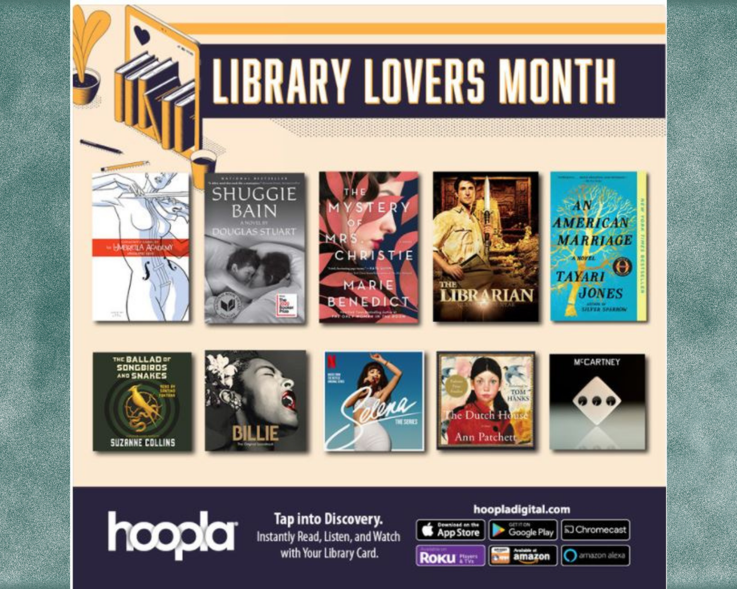 Hoopla Library Lovers Month